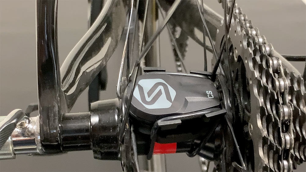 saris cs lets you add a speed or cadence sensor to any bike without magnets on the wheel spokes or crank arm