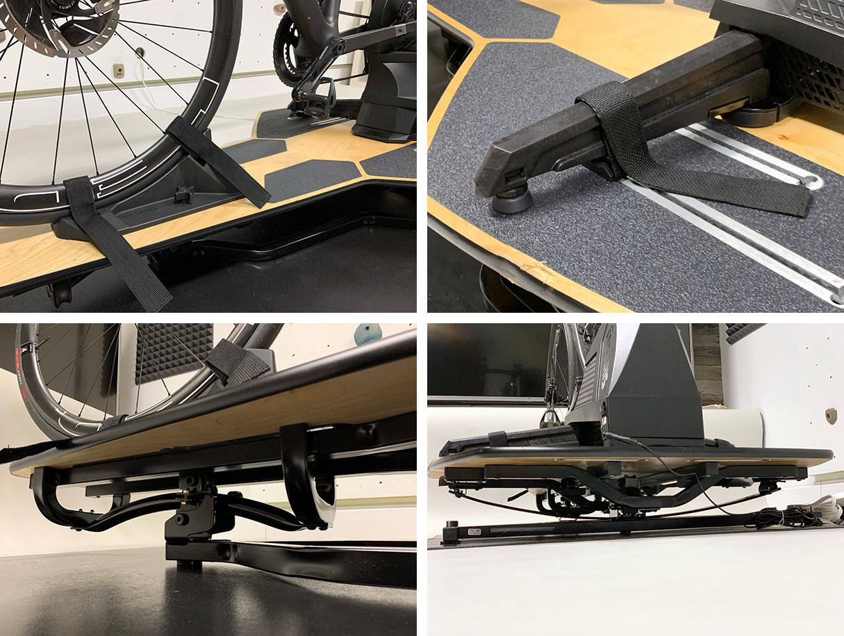 saris mp1 floating platform adds realistic road feel to your indoor cycling trainer