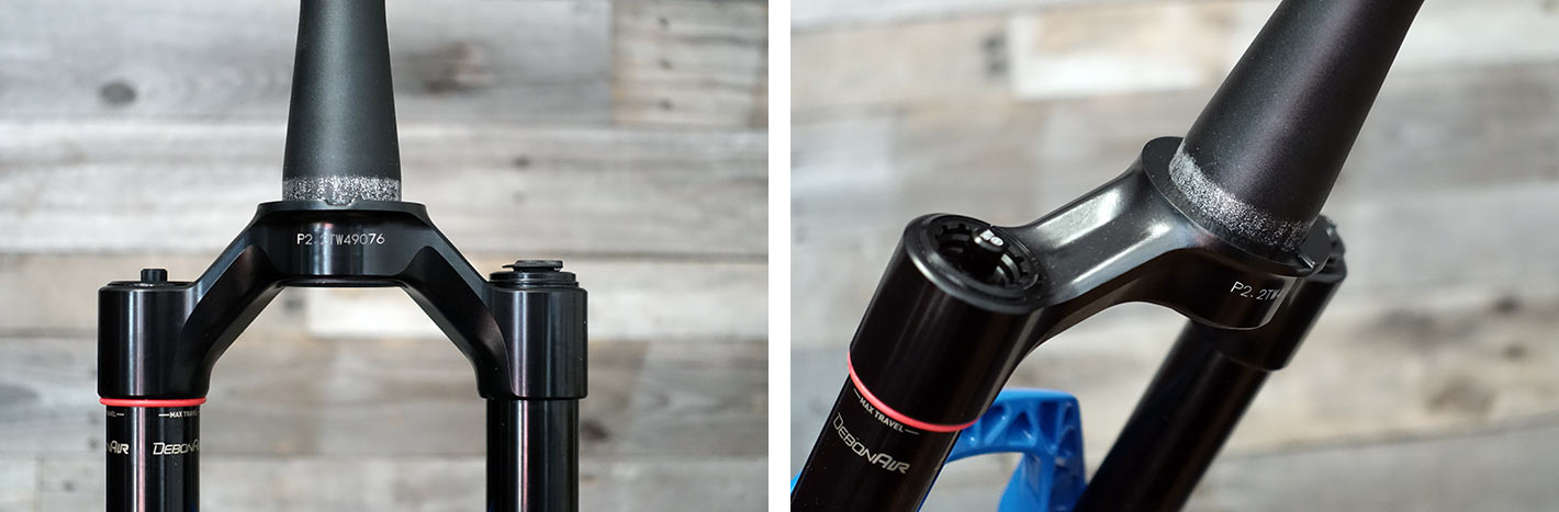 2021 rockshox sid sl suspension fork machined alloy crown replaces the carbon steerer tube options
