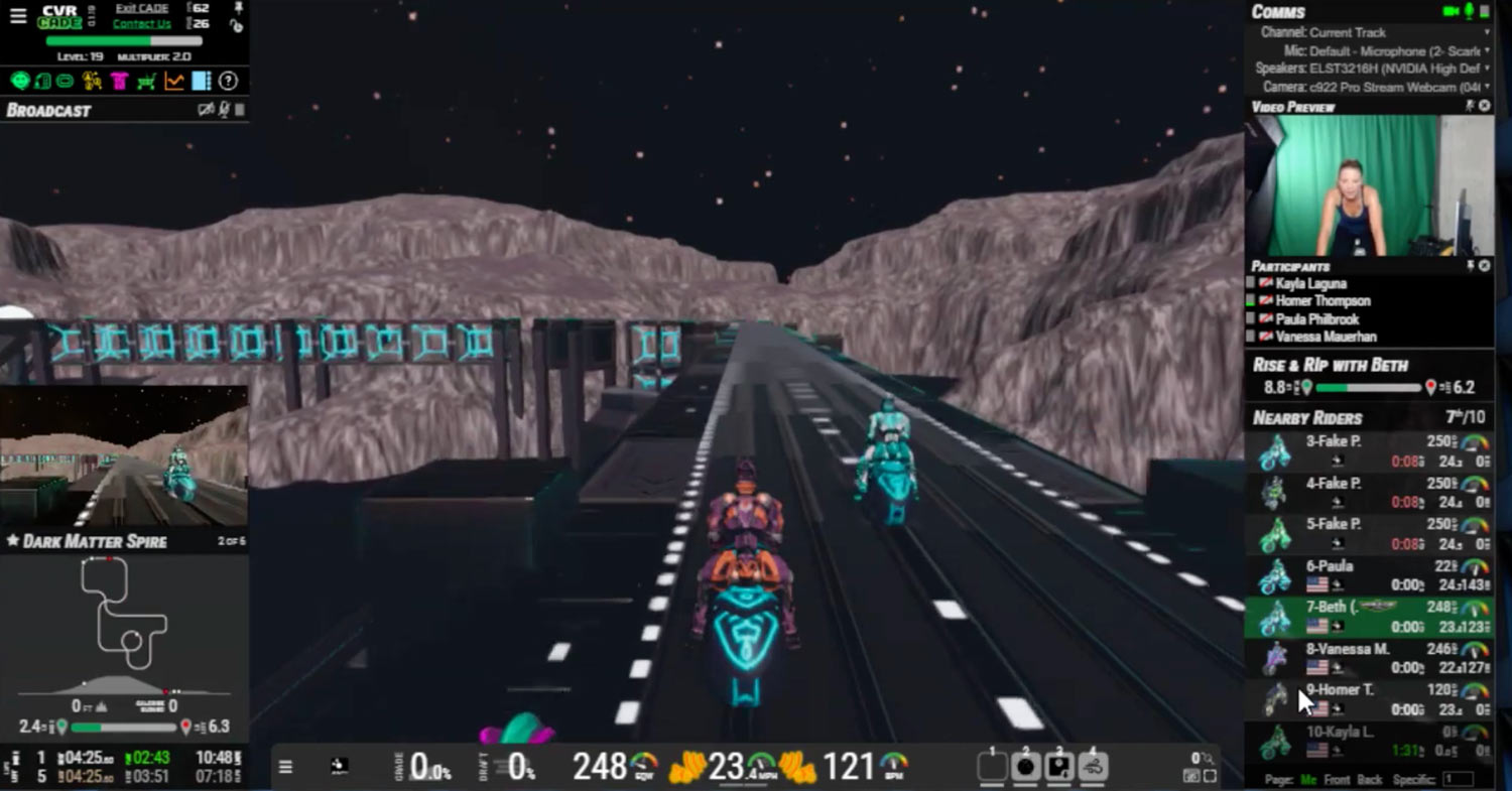 cvrcade turns cycling into a video game where you win by pedaling faster and longer