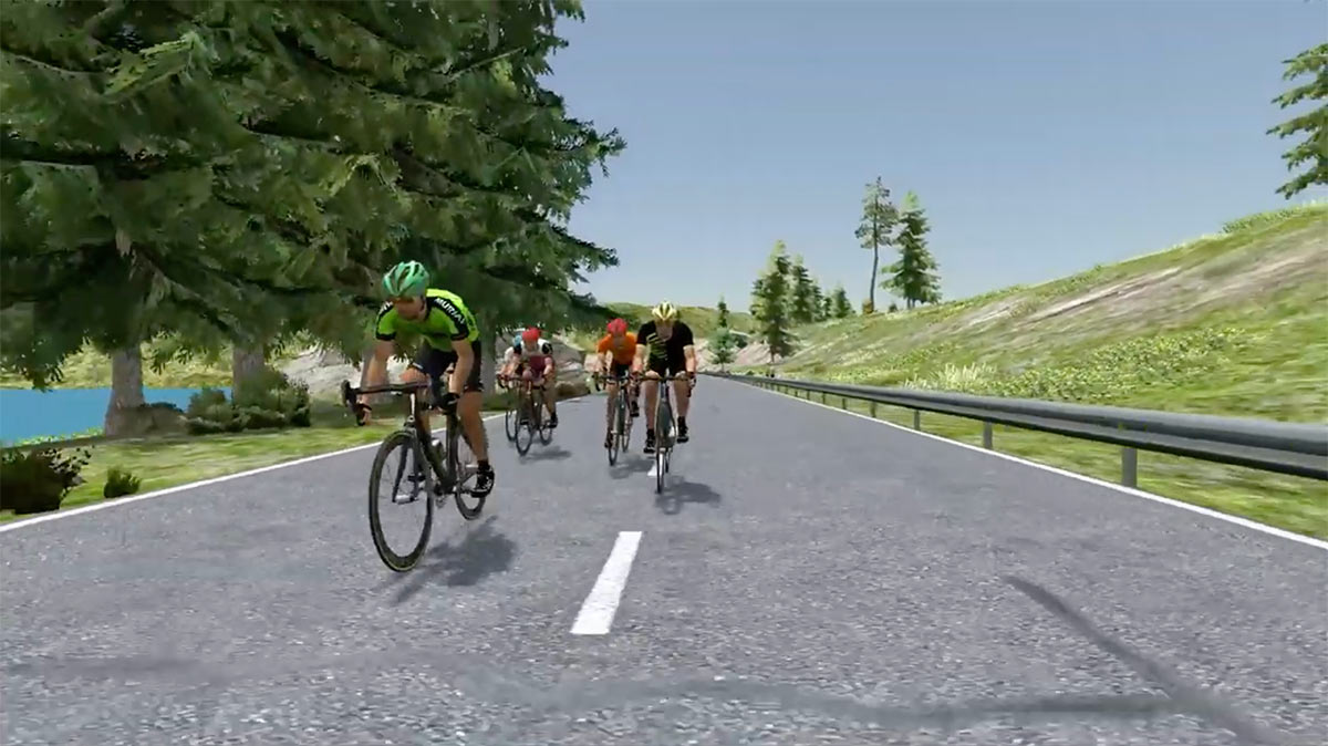 bkool turns your GPX file into a virtual world simulation that you can ride on your trainer