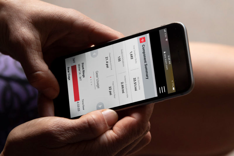 sram axs web shows your shift and gear usage for every ride and plots it against power output and speed