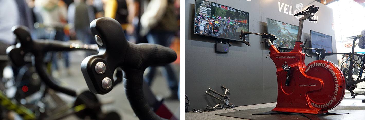 virtupro stationary bike allows you to steer your avatar in the Veloton cycling trainer app