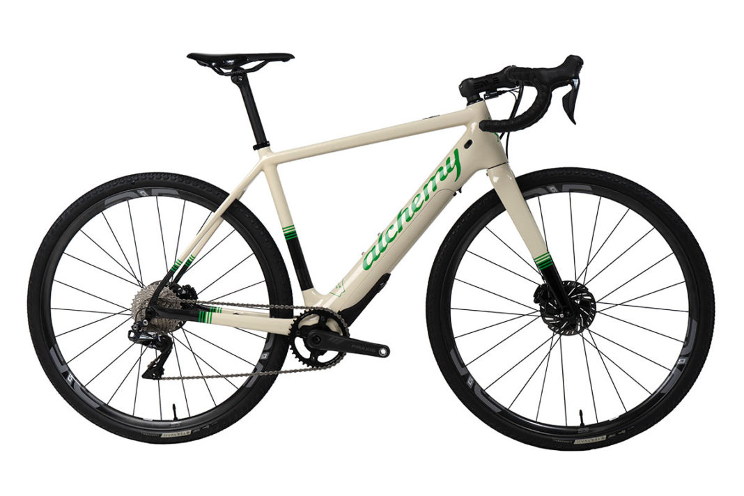 new alchemy e-ronin e-gravel bike with electric assist motor