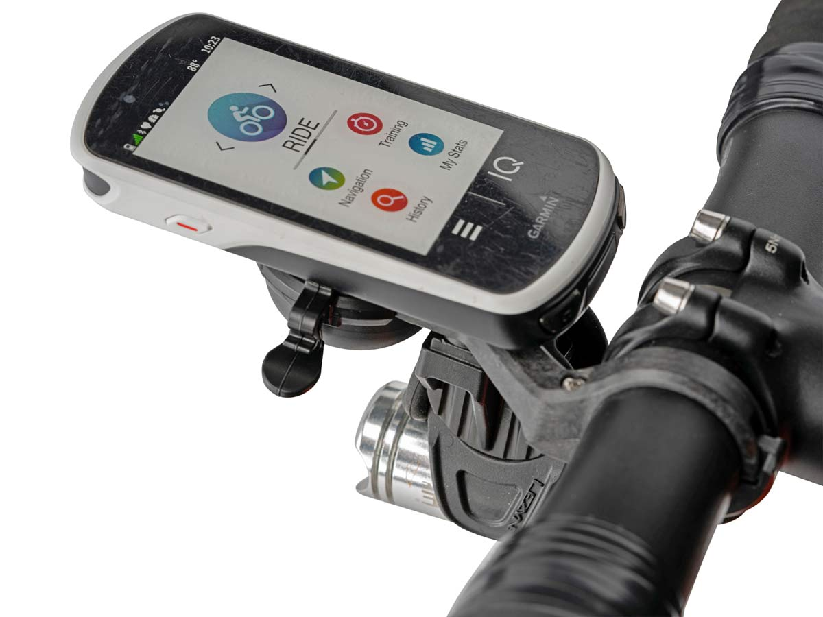 CloseTheGap HideMyBell RaceDay carbon GPS mount bike bell, lightweight carbon cycling computer out-front mount with removable bell