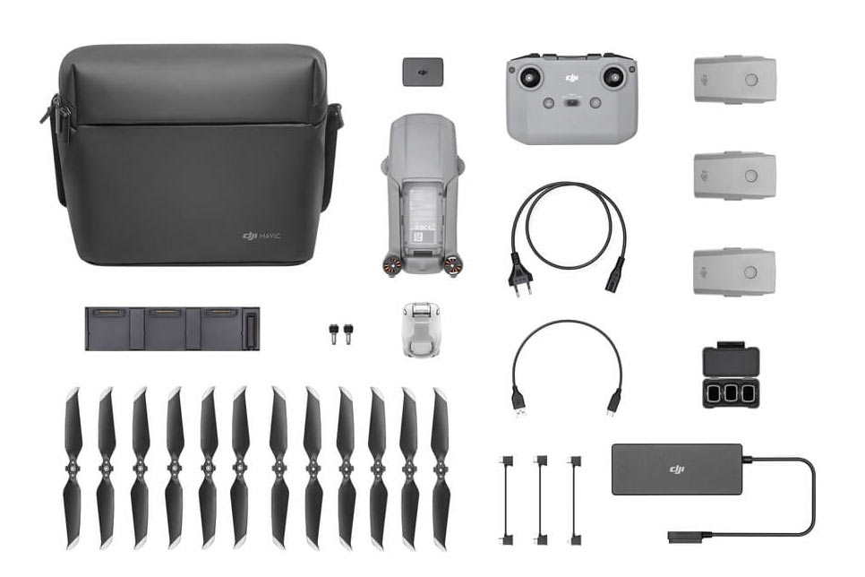 what is included in the dji mavic air 2 fly more combo kit