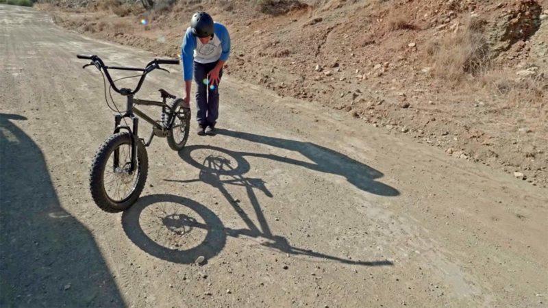 "Fingers Crossed BMX prototype, steel full-suspension 20"" BMX bike prototypes of Ruben Alcantera"