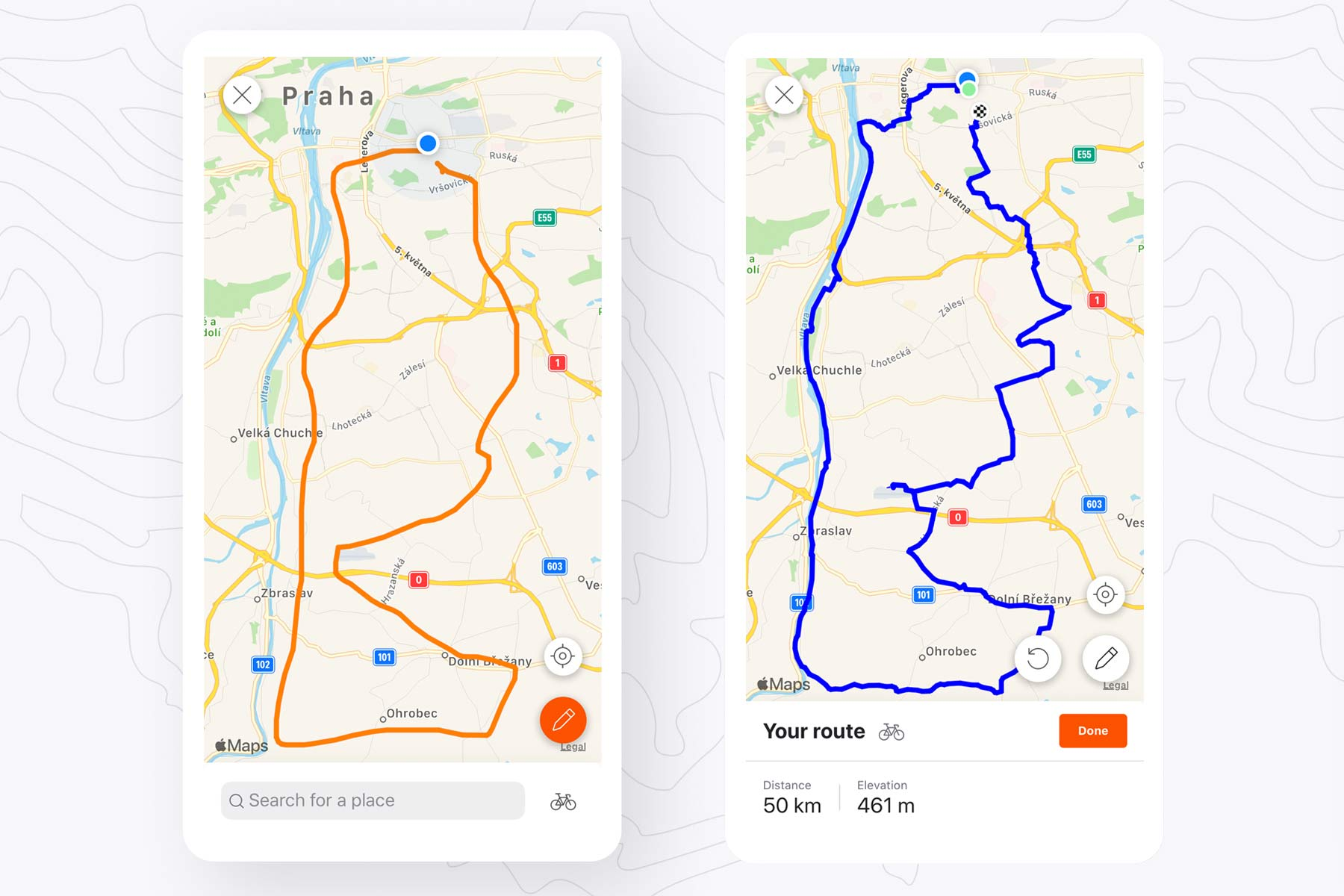 Strava Routes Beta automatic mixed surface ride generator