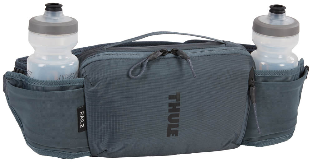 thule rail 2l hip pack with two water bottle pockets
