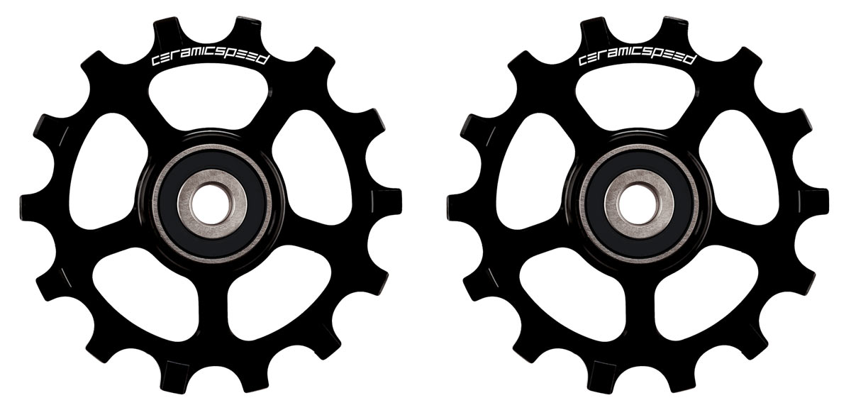 12-speed ceramic bearing pulley wheels for shimano M8100 XT and M9100 XTR rear derailleurs
