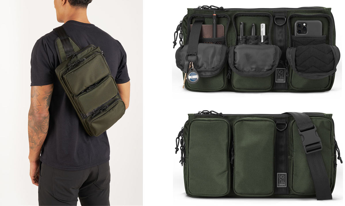 chrome mxd link sling pack that fits a 13-inch MacBook pro laptop computer