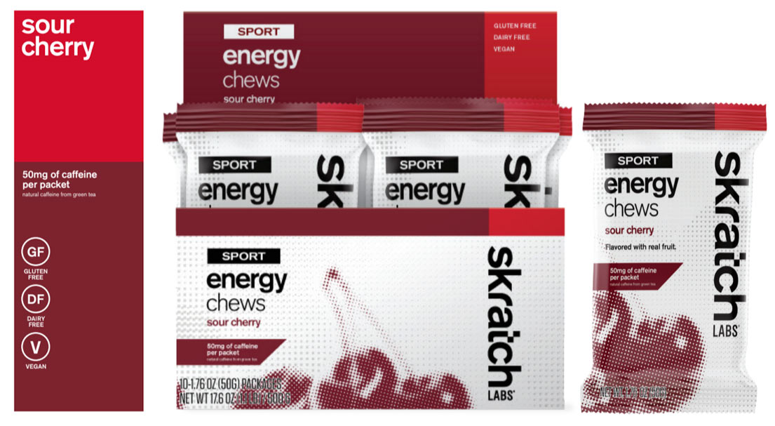 which skratch labs energy chew flavors have caffeine