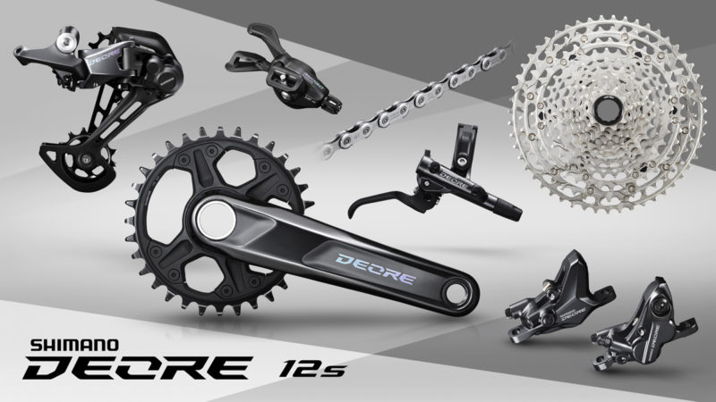shimano deore 12 speed mountain bike group component family photo