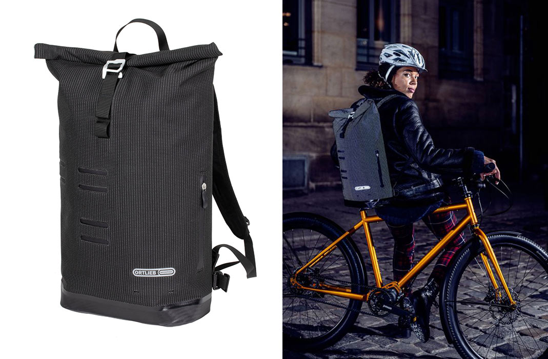 reflective commuter backpack for cyclists with waterproof construction