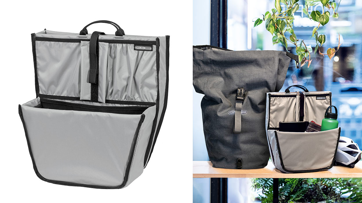 ortlieb commuter insert with laptop sleeve for bicycle pannier bags
