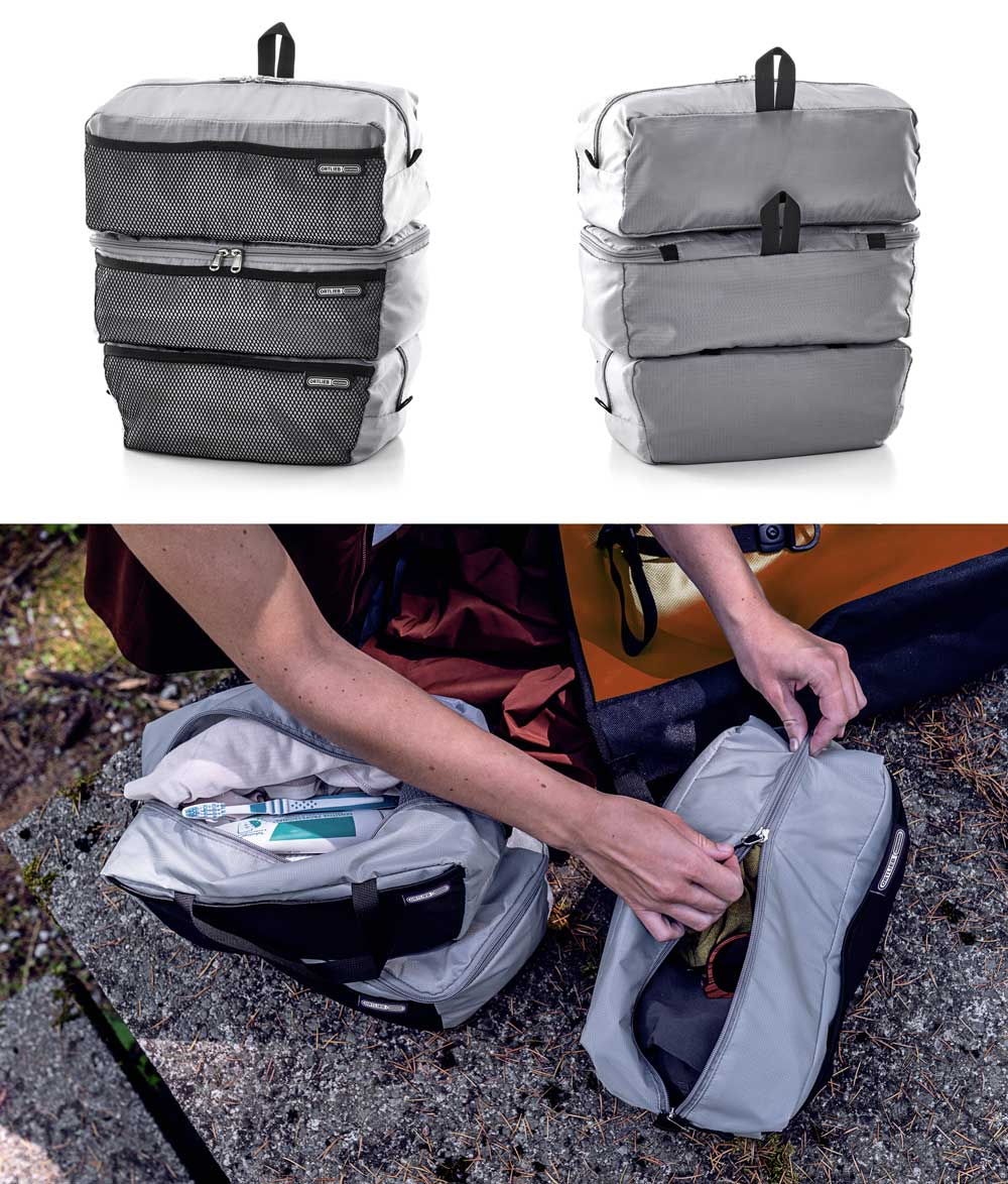Ortlieb packing cubes for pannier bags