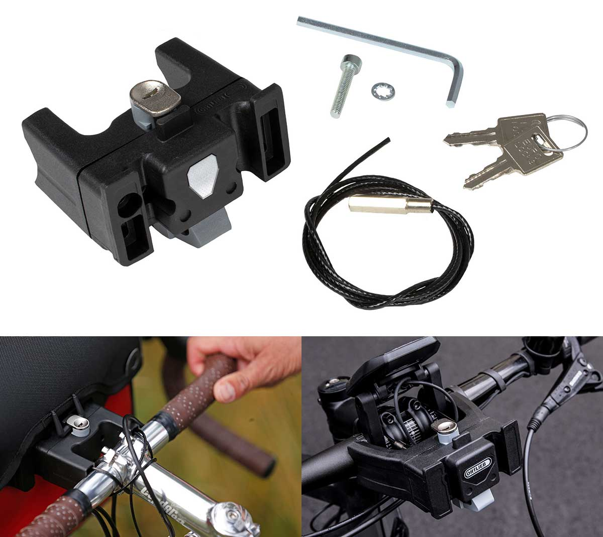 locking handlebar mount attachment for ortlieb bags