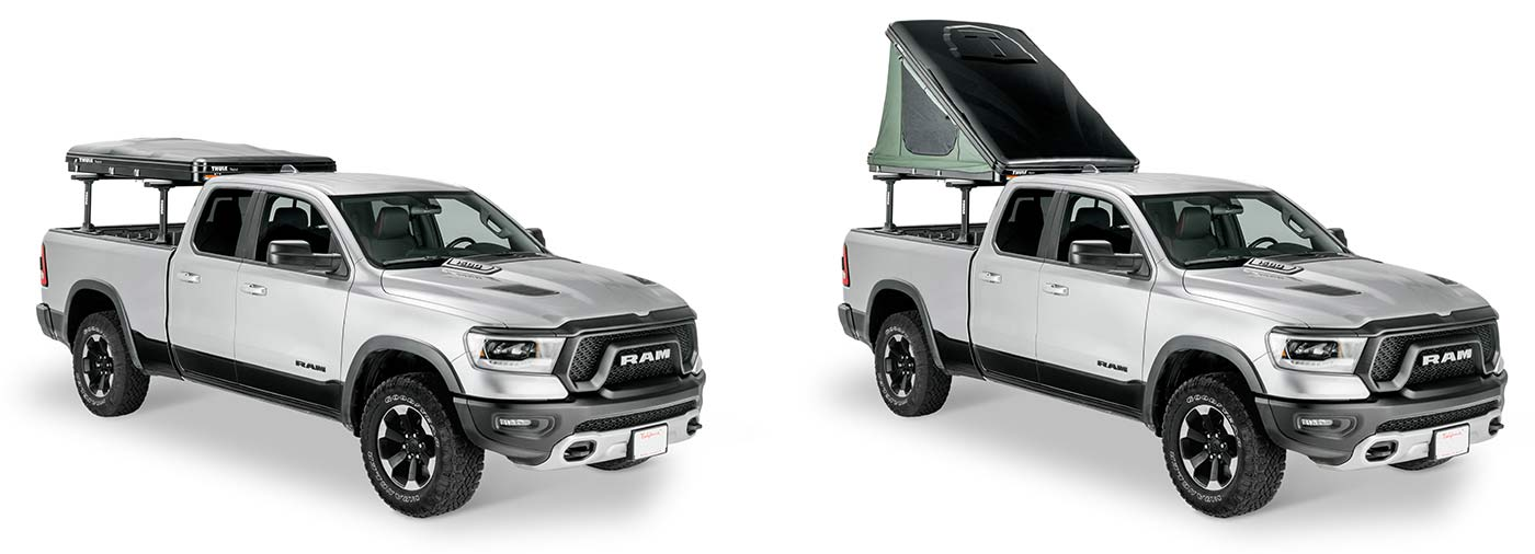 thule tepui hybox is the most aerodynamic roof top tent for your vehicle and the easiest to open and use for camping