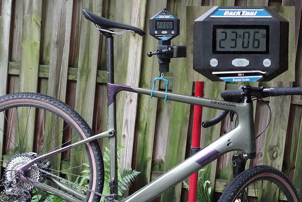 actual weight for cannondale topstone carbon lefty gravel bike