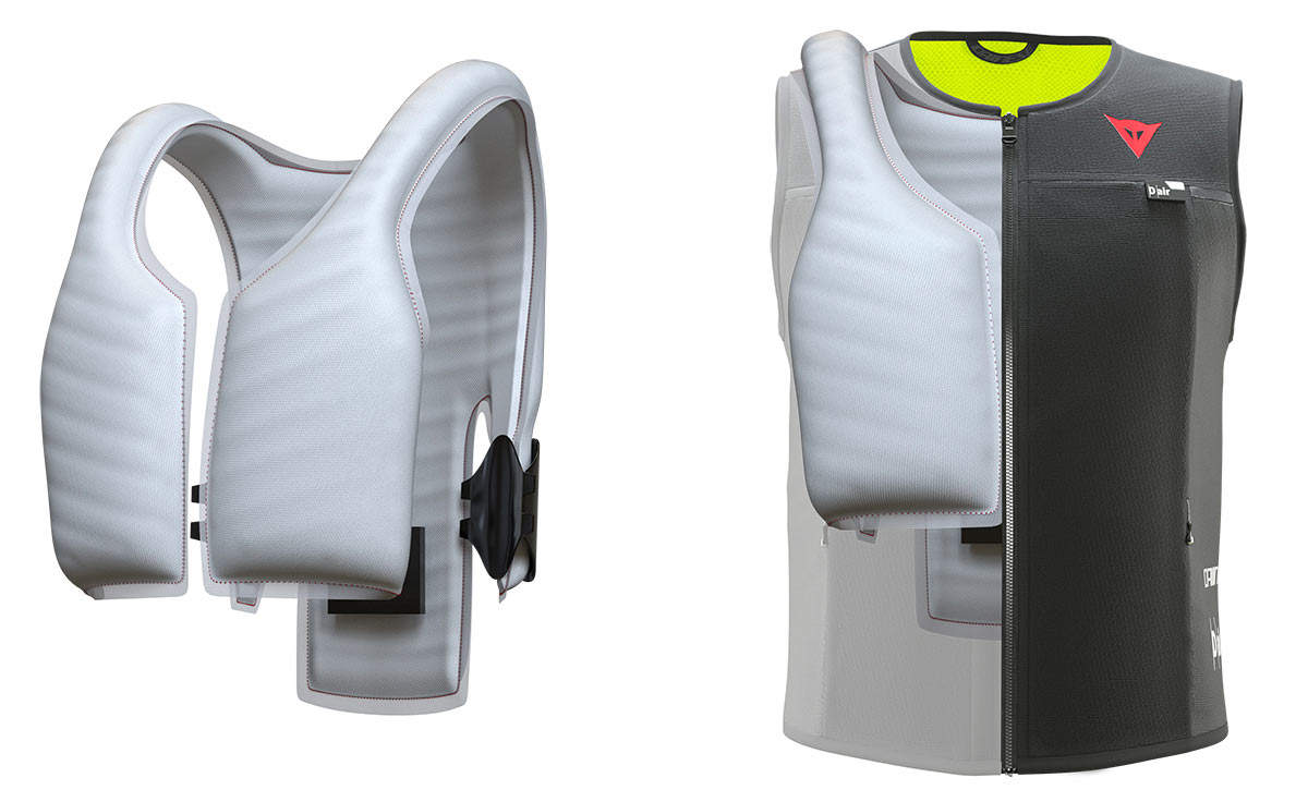 dainese air bag vest for mountain bikers and motorcyclists