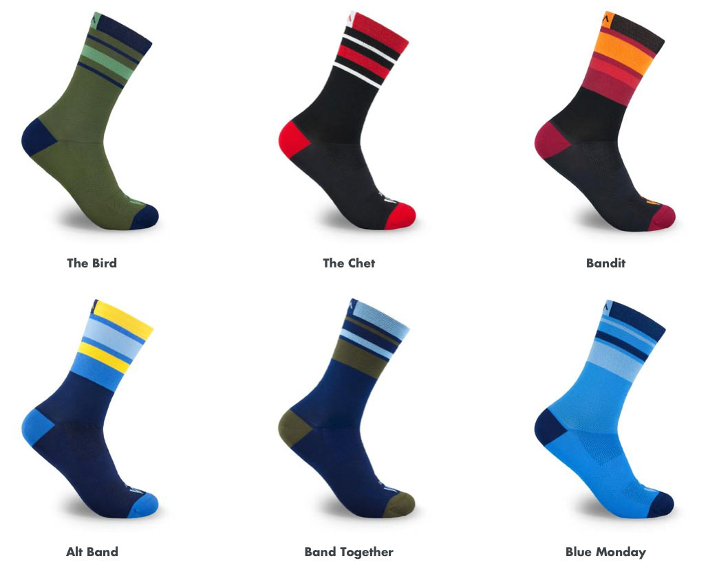 mint cycling socks stripes collection comes in lots of colors to match any kit