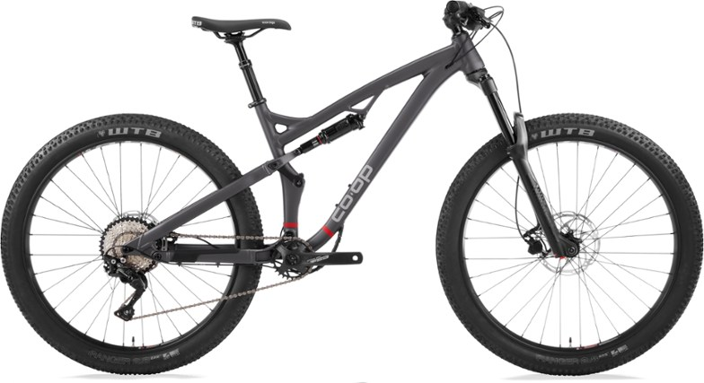 rei co-op DRT 3.1 full suspension mountain bike with plus sized tires