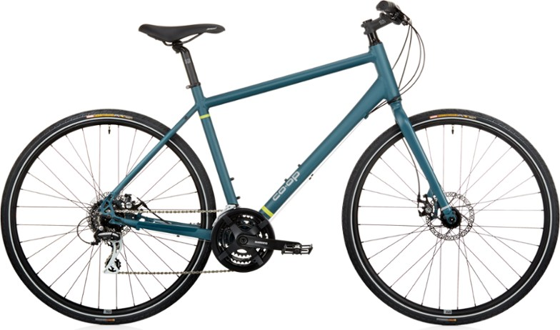 rei co-op CTY 1.1 city bike for commuters and riding around the neighborhood