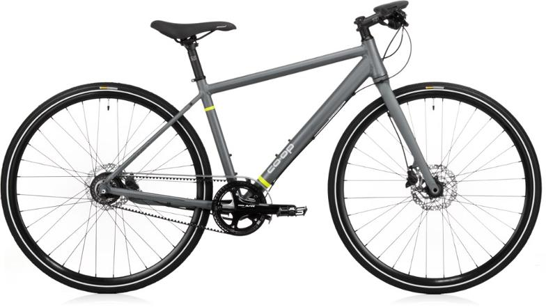 rei co-op CTY 1.3 urban commuter bike with shimano alfine internally geared hub and belt drive for no maintenance
