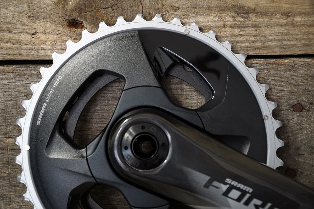 sram force axs wide range compact 43-30 chainrings and carbon cranks for gravel bikes and road bikes