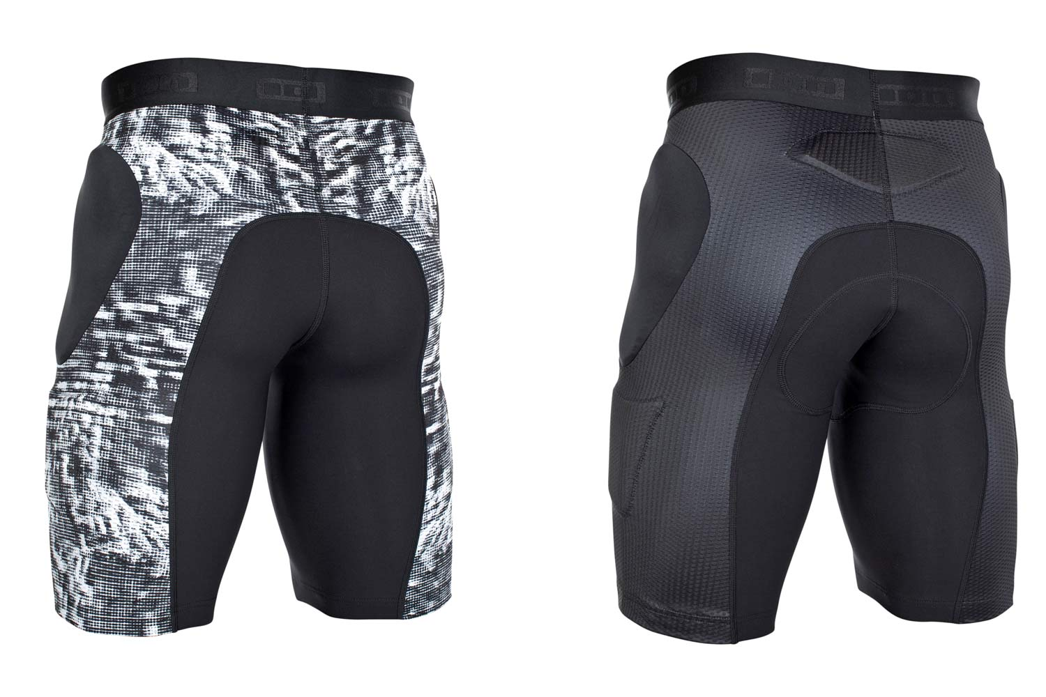 ION Scrub Amp protection body armor, lightweight low-profile mountain bike padding in shorts jersey and vest