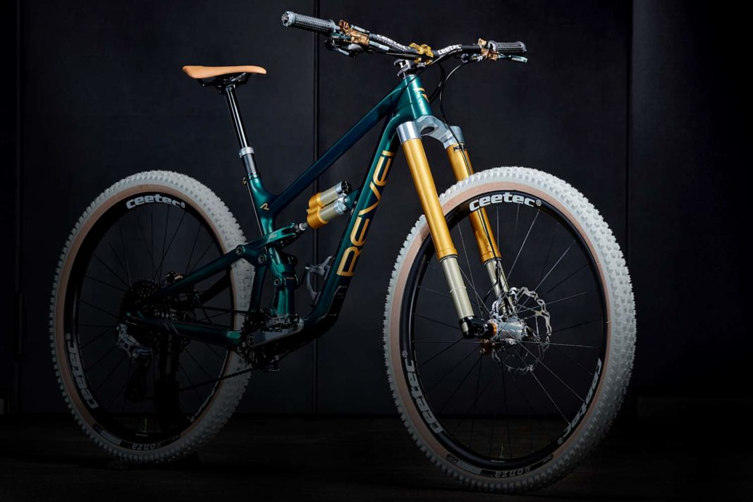 Intend mountain bike air suspension, Hover air shock, Edge New Age fork, enduro all-mountain bike, Revel Rascal by Flowrider Racing