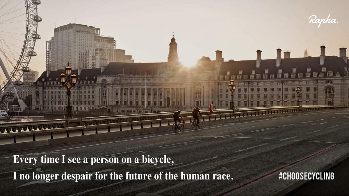 Rapha asks us to get back on the bike, to #ChooseCycling