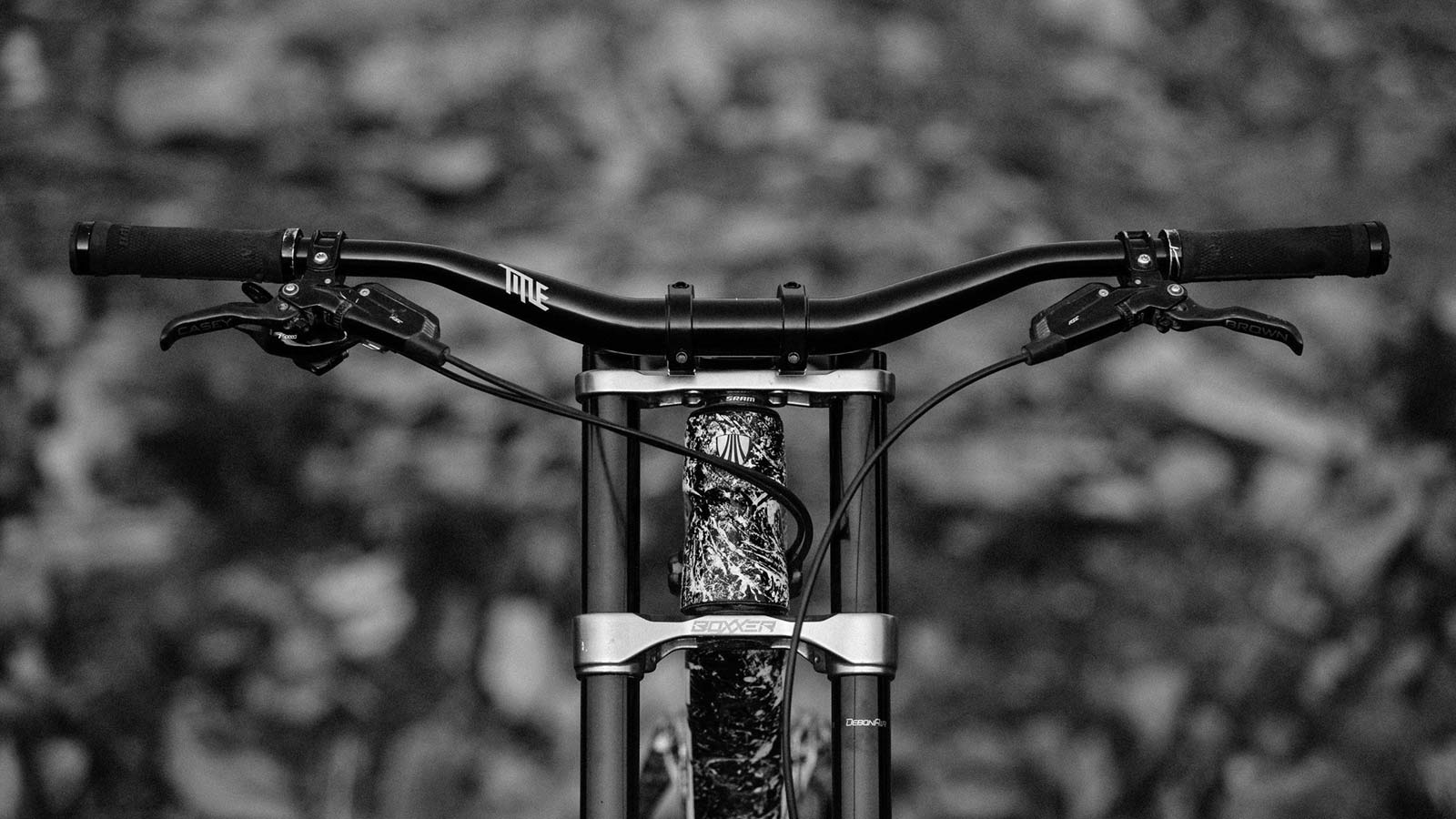 The Title Brand mountain bike components, all-mountain DH freeride-ready cockpit components and wheels by Brett Rheeder