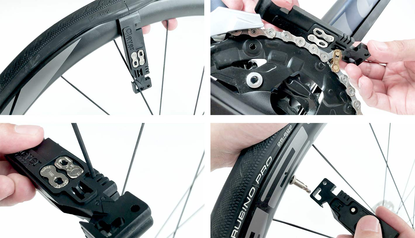 clever standard flat out tire lever repair tool for chains and quick links