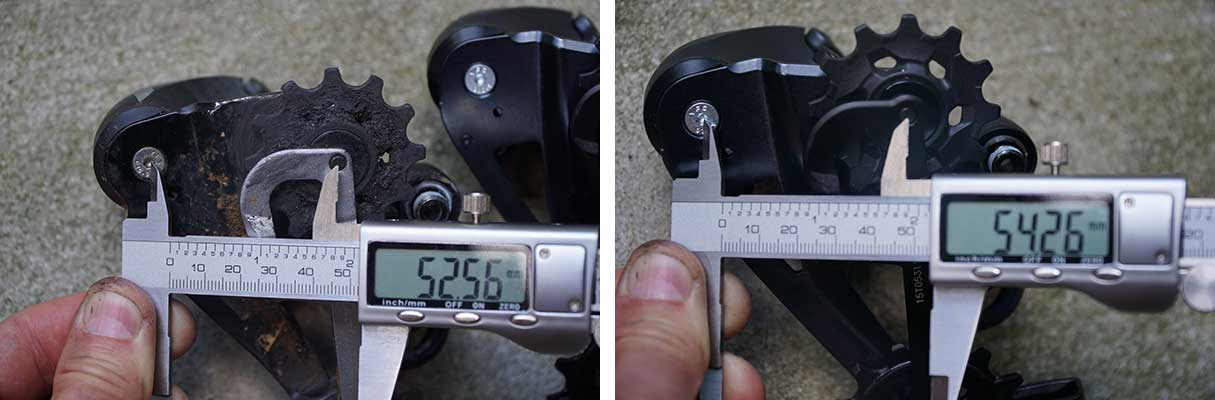 comparison of old and new sram eagle mountain bike rear derailleurs for 2021 upgrade