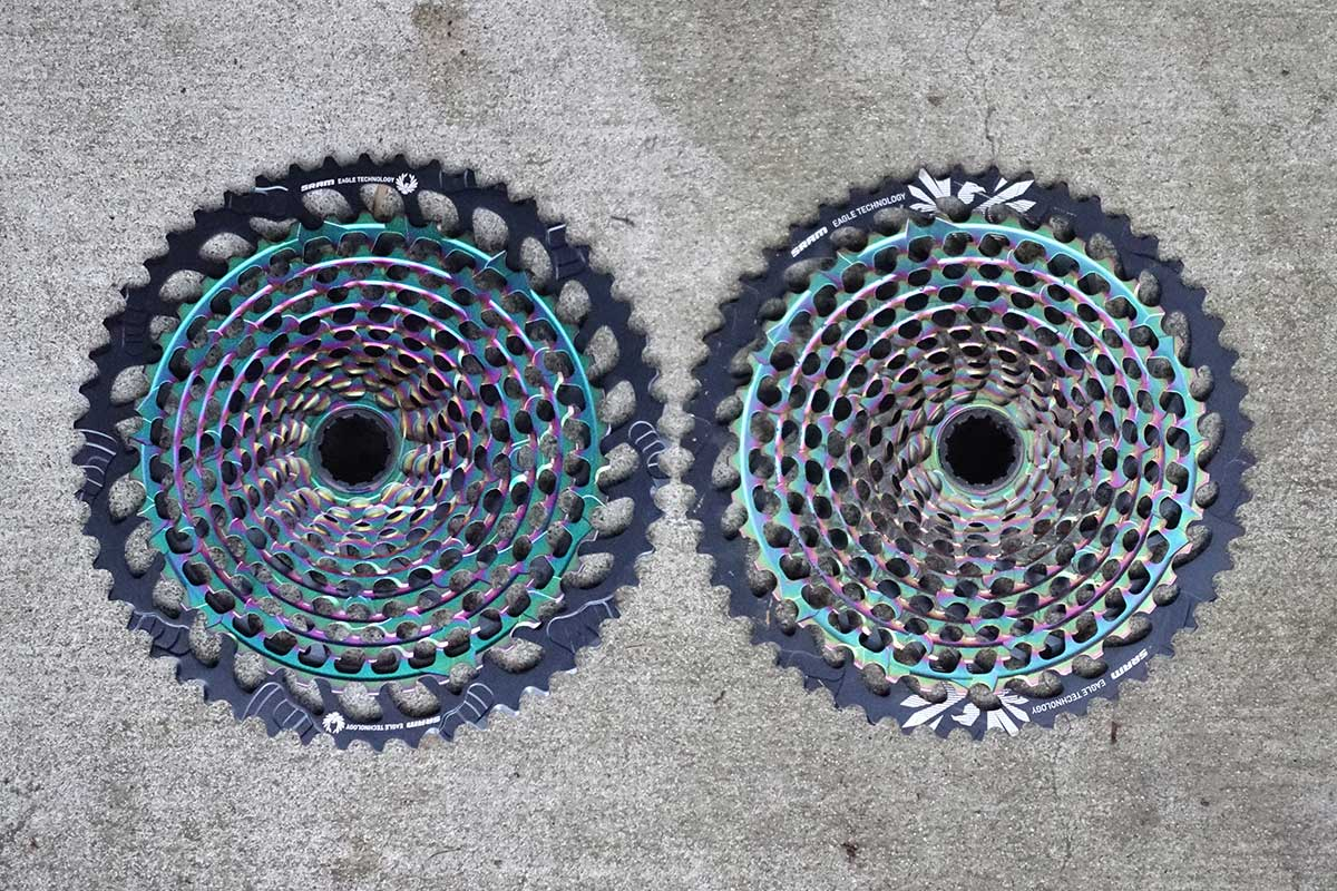 sram eagle 50-tooth and 52-tooth cassette size comparison