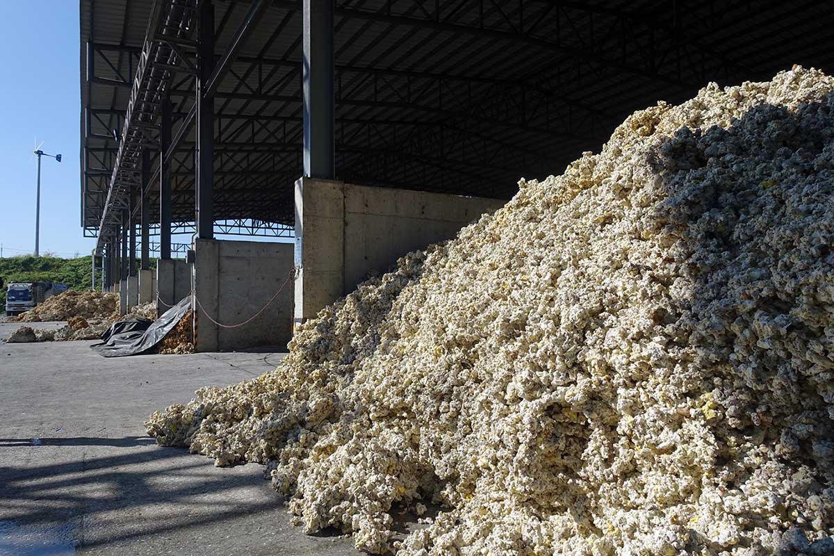 rubber latex is dried and chopped before being processed into blocks for transport to customers