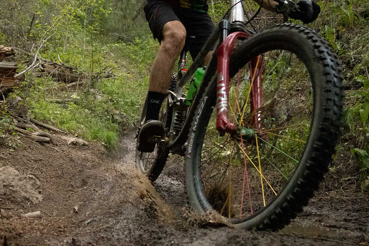all-terrain tire mountain biking wet dry conditions performs