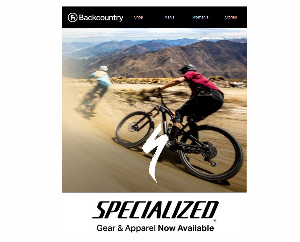 Specialized Gear & Apparel now available online through Backcountry & Competitive Cyclist