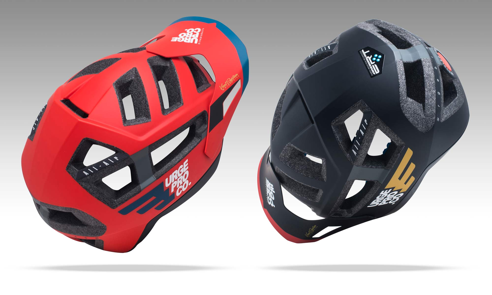 Urge All-Air all-mountain bike helmet, affordable extra ERT impact rotation reduction protection tech