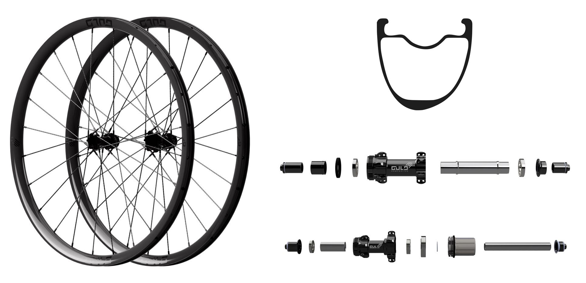 gulo grx sl gravel and cyclocross wheels with braided carbon fiber spokes