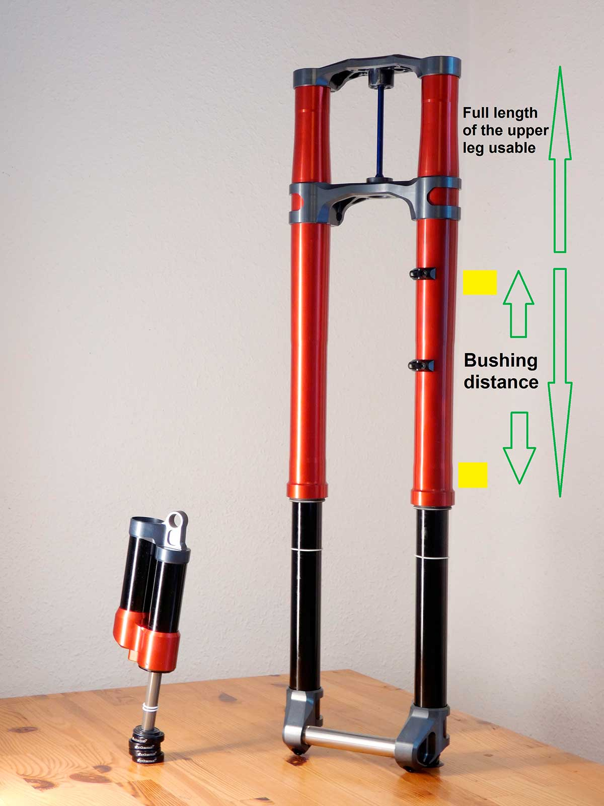 intend infinity dual crown dh fork downhill mountain biking inverted upside down design