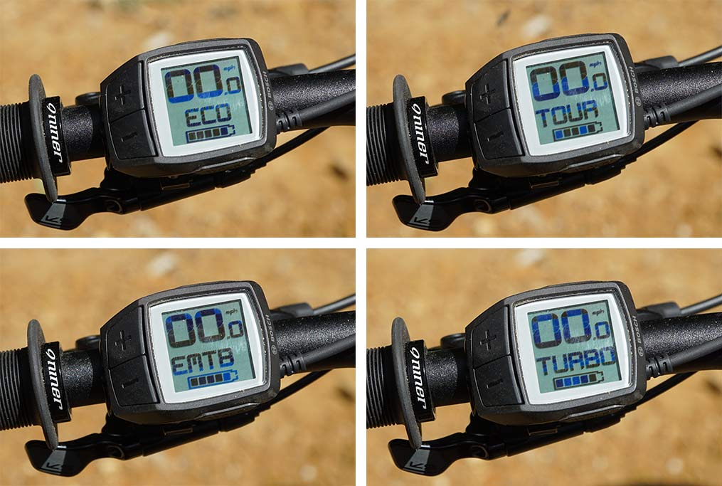 bosch performance line CX e-bike motor control remote and different assist modes