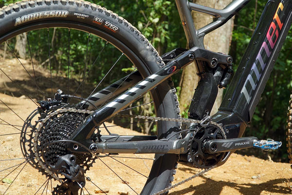 niner switches to an FSR hörst link four bar suspension for their electric assist mountain bikes