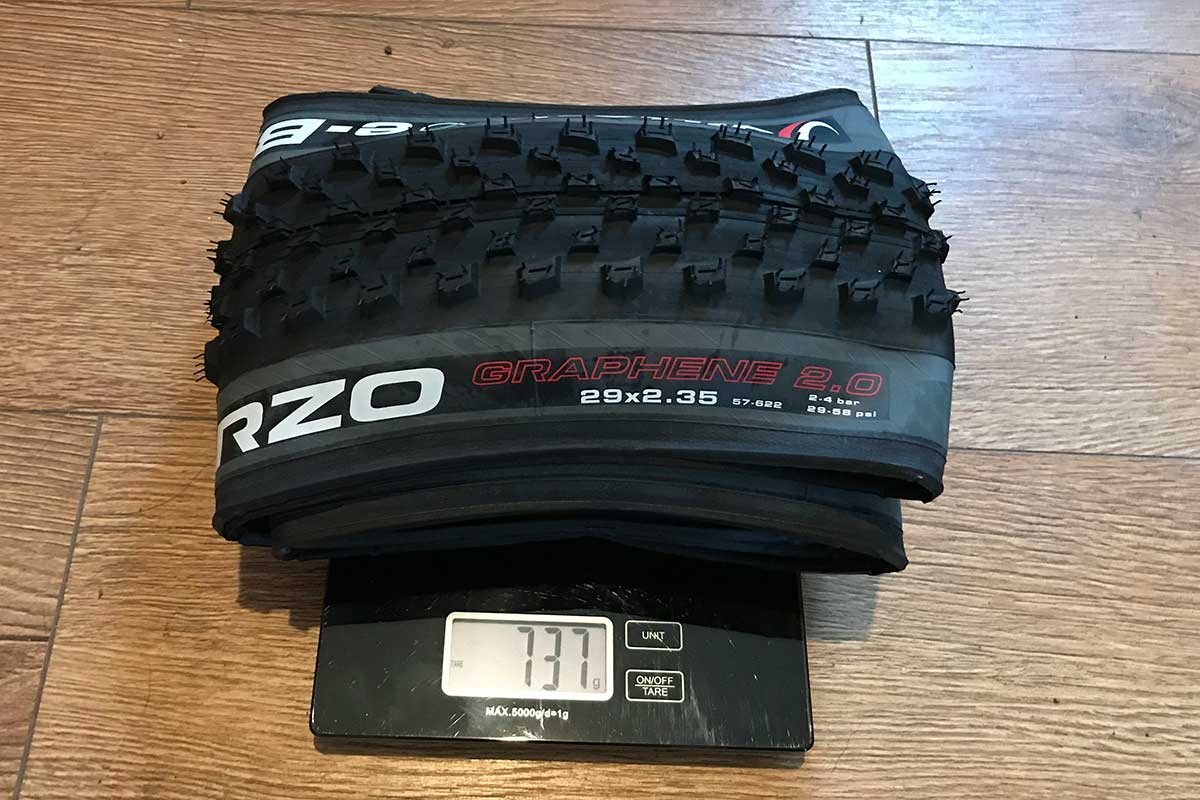 "vittoria ebarzo actual weight 737 g 29 x 2.35"" xc tire emtb"