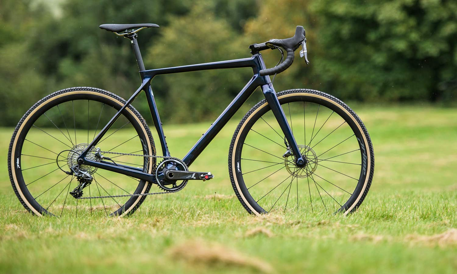 2021 Vitus Energie EVO cyclocross bike, race-ready lightweight affordable carbon CX bike, in a field