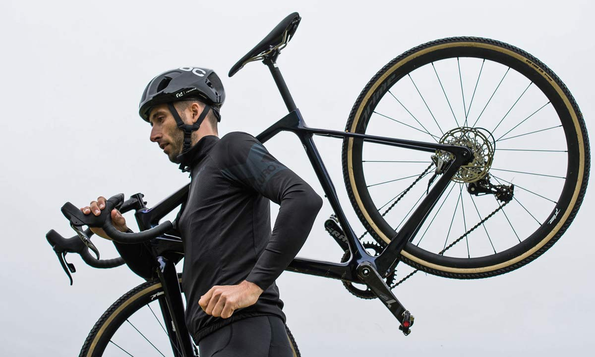 2021 Vitus Energie EVO cyclocross bike, race-ready lightweight affordable carbon CX bike, shoulder carry