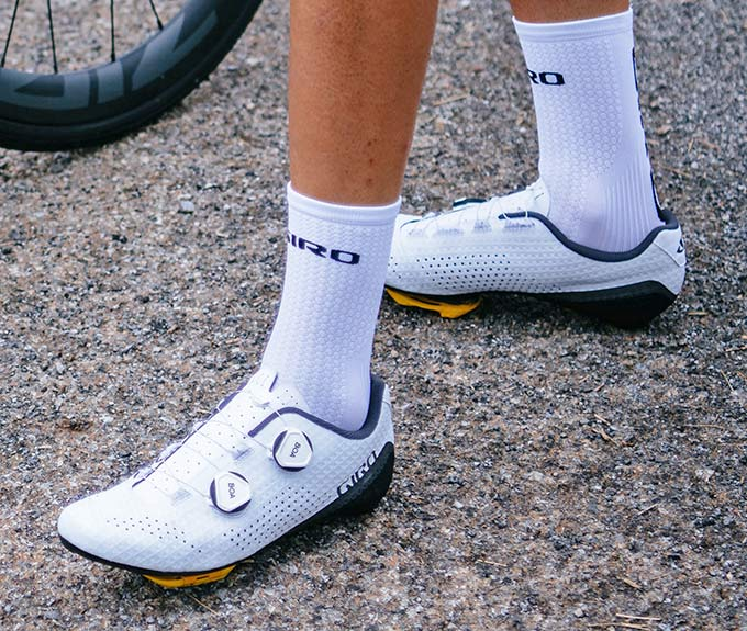 Giro Regime high performance road shoes at a mid-level price, walking