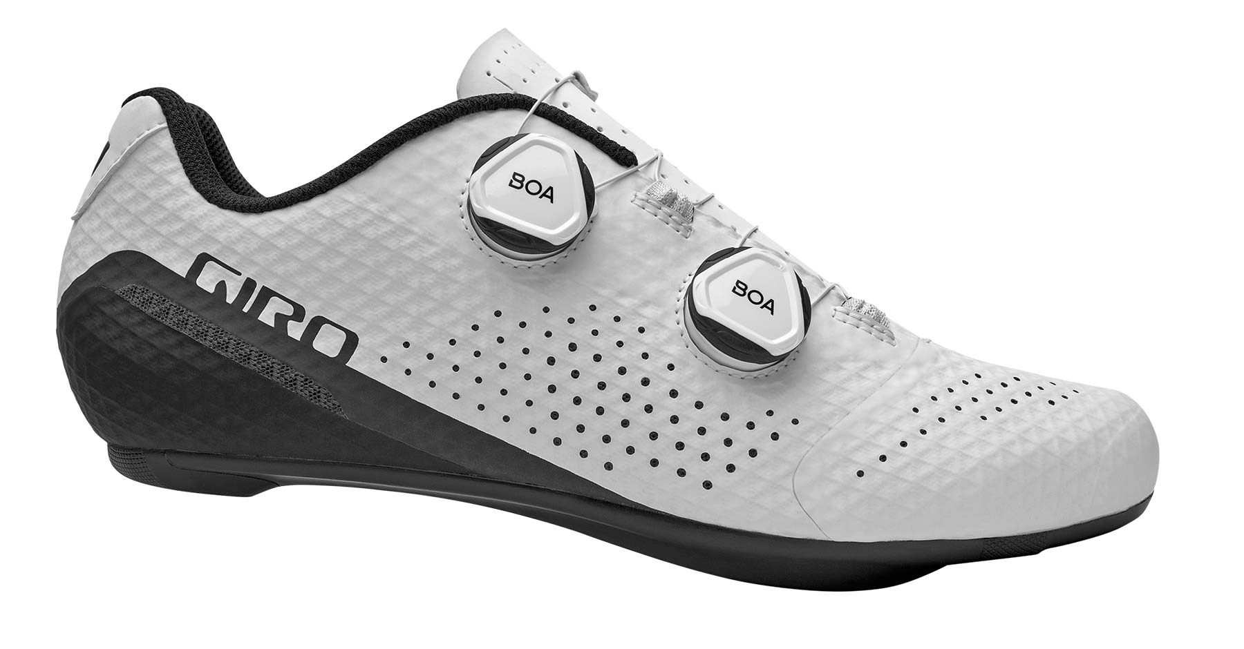Giro Regime high performance road shoes at a mid-level price, white side