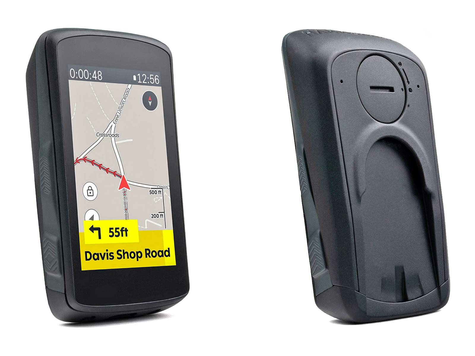Hammerhead Karoo 2 cycling computer, powerful Android OS GPS cycling computer head unit, front & back